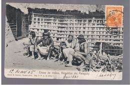 Paraguay Choza De Indios 1905  OLD POSTCARD 2 Scans - Paraguay