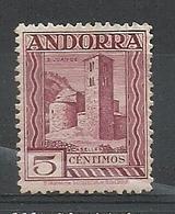 ANDORRA CORREO ESPAÑOL BONITO SELLO Nº 16 CON FIJASELLOS (S.1.C.08.18) - Andorre Espagnol