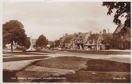 United Kingdom PPC The Green, Broadway, Worchestershire Valentine's 1938 Echte Real Photo Véritable (2 Scans) - Worcestershire