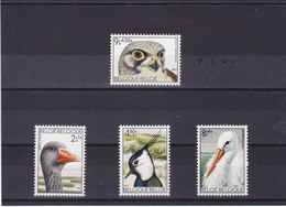 BELGIQUE 1972 OISEAUX Yvert 1644-1647 NEUF** MNH - Belgique
