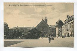 Innsbruck. Rennplatz Mit Hofkirche Und Leopoldsbrunnen - Innsbruck