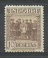 ANDORRA CORREO ESPAÑOL  BONITO SELLO Nº 26 CON FIJASELLOS (S.1.C.08.18) - Andorre Espagnol