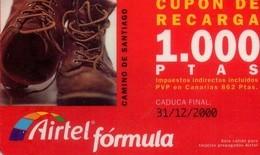 TARJETA TELEFONICA DE ESPAÑA, (PREPAGO) 174. CAMINO DE SANTIAGO.. - Airtel