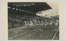 Jeux Olympiques De 1924 à Paris . Athlétisme . Départ Du 800 M Plat . Euck Stallard Lowe Martin . - Giochi Olimpici
