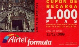 TARJETA TELEFONICA DE ESPAÑA, (PREPAGO) 176. CAMINO DE SANTIAGO.. - Airtel
