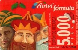 TARJETA TELEFONICA DE ESPAÑA, (PREPAGO) 172. NAVIDAD. - Airtel