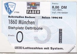 Germany VFL Bochum - 1860 Munchen -  1994 Bundesliga Match Ticket - Tickets D'entrée