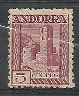 ANDORRA CORREO ESPAÑOL  BONITO SELLO Nº 16a DENTADO 11 1/2 CON FIJASELLOS  (S.1.C.08.18) - Andorre Espagnol