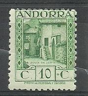 ANDORRA CORREO ESPAÑOL  SELLO Nº 17a DENTADO 11 1/2 CON FIJASELLOS  (S.1.C.08.18) - Andorre Espagnol