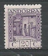 ANDORRA CORREO ESPAÑOL  SELLO Nº 19a DENTADO 11 1/2 SIN FIJASELLOS  (S.1.C.08.18) - Spanish Andorra