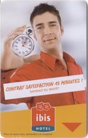 FRANCIA KEY HOTEL -  Ibis Hotel Contrat Satisfaction 15 Minutes  - WITH CLOCK - Hotel Keycards
