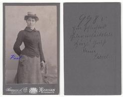 CDV Photografie Samson & Co., Barmen - Portrait Junge Dame Mit Hut Femme Woman / Name Siehe Scan - Geïdentificeerde Personen