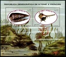 (017) Sao Tome  Shells Sheet / Bf / Bloc Coquillages / Muscheln / Meeresschnecken   ** / Mnh  Michel BL 56 - Sao Tome And Principe