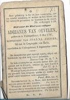 DEV30/° Kalmthout 1797 + 1863 ADRIANUS VAN OEVELEN - Religion & Esotérisme
