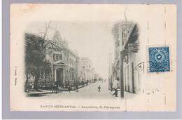 Paraguay Asuncion Banco Mercantil Ca 1915 OLD POSTCARD 2 Scans - Paraguay