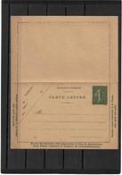 LMM14 - CARTE LETTRE SEMEUSE LIGNEE 15cDATE 930  NEUVE - Cartes-lettres