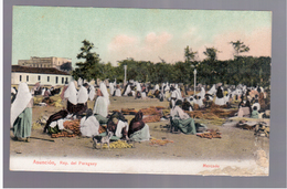 Paraguay Asuncion Mercado Ca 1915 OLD POSTCARD 2 Scans - Paraguay