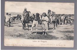 Paraguay Asuncion Indios Ca 1905 OLD POSTCARD 2 Scans - Paraguay