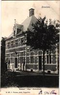 2 Oude  Postkaarten   Broechem    Kasteel Olga Bistenhoek  1905  Hoelen N° 257  Gemeentehuis 1905 - Ranst