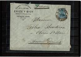 LMM14 - ARGENTINE LETTRE DE ERIZE POUR OLORON STE MARIE 13/8/1919 - Argentine