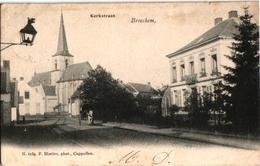 1 Oude  Postkaart   Broechem   Kerkstraat   Uitg. Hoelen N° 1154    1904 - Ranst