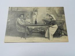 19 CORREZE CARTE ANCIENNE EN NOIR ET BLANC SANS ECRITURE EN LIMOUSIN LA PICOTO //HOMME FEMME DESSIN PAYSAN - France