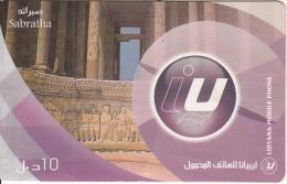 LIBYA - Libyana Prepaid Card LYB 10, Used - Libya