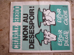 CHARLIE HEBDO - N°343 Du 9/06/1977 - Couverture De Reiser - NON AU DESESPOIR - Journaux - Quotidiens
