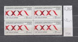 2187 K Bulgaria 1971 CONGRESS OF EUROPEAN BIOCHEMICAL ASSOCIATION ( FEBS ) Double Helix Of DNA (Desoxyribonukleinsaure ) - Unused Stamps