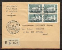 ALGERIE N° 334x4 LEGION ETRANGERE SUR LETTRE DE CAMERONE DU 30/04/56 - Algérie (1924-1962)