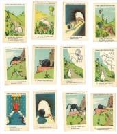12 Chromos Chicorée Extra D. Voelcker-Coumes à Bayon (M. & M.), Fable De La Fontaine : Le Chat, La Belette ...lapin - Autres
