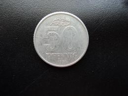RÉPUBLIQUE DÉMOCRATIQUE ALLEMANDE : 50 PFENNIG   1958 A    KM 12.1    TTB - [ 6] 1949-1990 : GDR - German Dem. Rep.