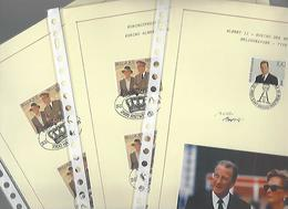 Koningsfeest 15 November1995  3 X A4 Bladeren - Marcophilie