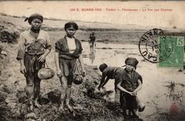 E. QUANG YEN  TONKIN PECHEUSES LA VIE AUX CHAMPS - Viêt-Nam
