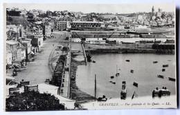CPA 50 Granville Belle Vue Quais Train Marchandise - Granville