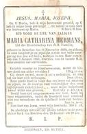 BEVERLOO - 1860-1885 - Maria Catharina HERMANS - Images Religieuses