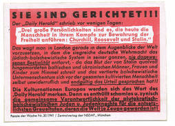 Plakbiljet Voor Brief  Parole Der Woche NSDAP 6 Cm/9cm - Weltkrieg 1939-45
