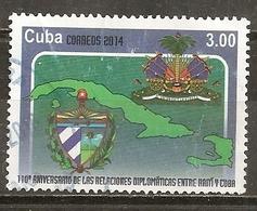 Cuba 2014 Diplomatic Relations Cuba Haiti Obl - Used Stamps