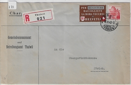 1942 Altstoffe 256/407 215/327 Charge Thalwil To Zürich 18.V.42 - Suisse