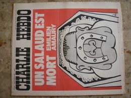 CHARLIE HEBDO - N°321 Du 6/01/1977 - Couverture De Gébé - Emilien Amaury: UN SALAUD EST MORT - Journaux - Quotidiens