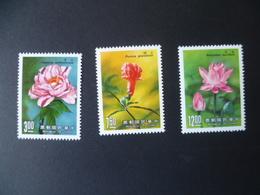 TIMBRE CHINE  FORMOSE  N° 1742 / 1744     NEUF **   FLEUR  FLOWER - 1945-... République De Chine