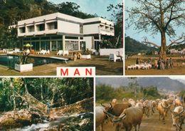 1 AK Elfenbeinküste Côte D'Ivoire * Ansichten Der Stadt Man - U.a. Eine Liananbrücke Und Das Hotel Cascades - IRIS Karte - Ivory Coast