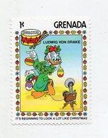 Grenada - 1983 - Francobollo Tematica Disney - Natale - Ludwig Von Drake - Nuovo - (FDC11294) - Grenada (1974-...)