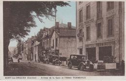 19 BORT-LES-ORGUES  AVENUE DE LA GARE ET L'HOTEL TERMINUS - Frankrijk
