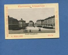 ROUEN Epicerie Centrale ROUILLARD Jolie Chromo Duffit PAU PLACE GRAMMONT EN 1890 - Chromos