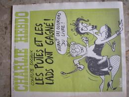 CHARLIE HEBDO - N°241 Du 26/06/1975 - Couverture De Reiser - Conflits Sociaux: Les Putes Et Les Lads Ont Gagné - Zeitungen