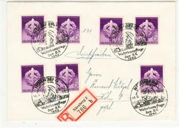 III. Reich, Sehr Schöner REKO  Brief Mit Michel Nr. 818 MeF. Nürnberg- Wehrkampftage Der SA 1942 - Deutschland