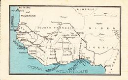 AFRIQUE OCCIDENTALE FRANCAISE - TEXTE AU VERSO - Cartes Postales