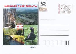 Tchéquie / Cartes Post. (Pre2016/09) Création Du Parc National De Sumava (Forêt De Bohême) (1991), 25ème Anniversaire - Galline & Gallinaceo