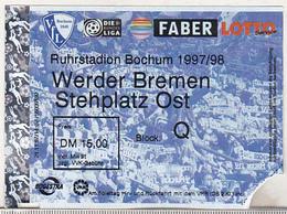 Germany VFL Bochum - Werder Bremen -  1997 Bundesliga Match Ticket - Tickets D'entrée
